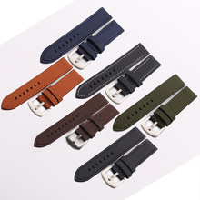 9acf869fc Watchband 18mm 20mm 22mm 24mm 26mm Retro Lengthen Calf Genuine Leather  Watch Band Watch Strap Blue, Brown, Orange,