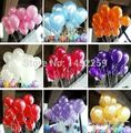 Free shipping 100pcs / pack 10inch helium / latex balloon air balls inflatable toy wedding party decoration happy birthday