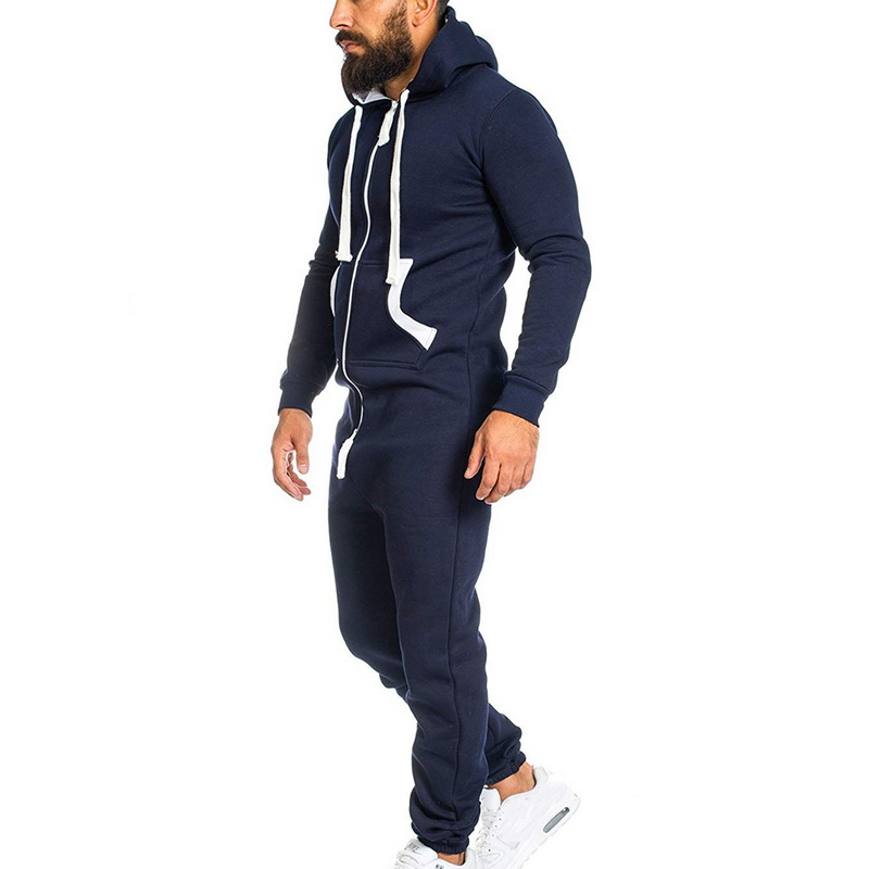 545378416a1 Puimentiua 2019 Casual Tracksuit Jumpsuit Mens Overalls Long Sleeve  Sweatshirts Hoodies Casual Long Pants Romper Male Overalls-in Overalls from  Men s ...
