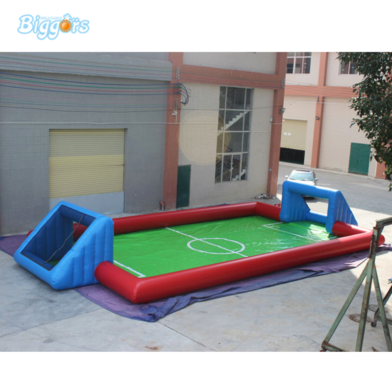 New Inflatable Water Soap Soccer Field With Blowers For Sale цена