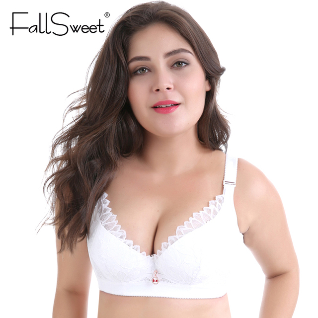 fallsweet plus size bras d dd cup push up lace brassiere for women