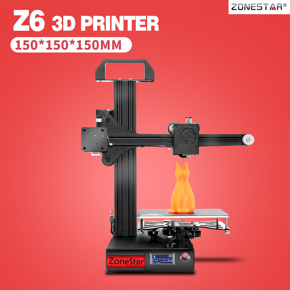 ZONESTAR nouveau Portable haute précision pas cher noir plein métal aluminium éducation étudiant OLED rapide installer 3D imprimante kit de bricolage cadeau