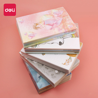 Deli 4pcs 16K creative notebook stationery Gifts thickening student soft copy notepad fashionable beautiful lovely big