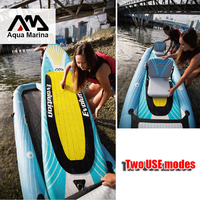 Aqua Marina Evolution Inflatable Stand up paddle board 2 in 1 two person kayak and stand up paddle board Drop Stitch Kayak