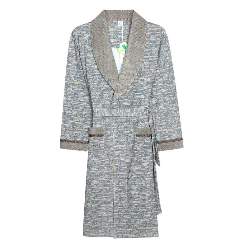 4458a4ee92 Straight for Nightgown spring autumn long sleeved bathrobe home clothes ...