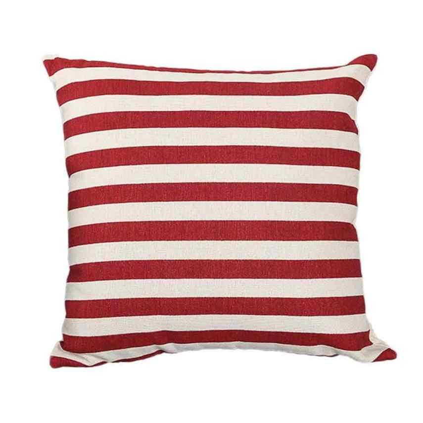 45*45 полосатый принт диван-кровать фестивальные декорации подушки для домашнего декора Декоративные Подушки