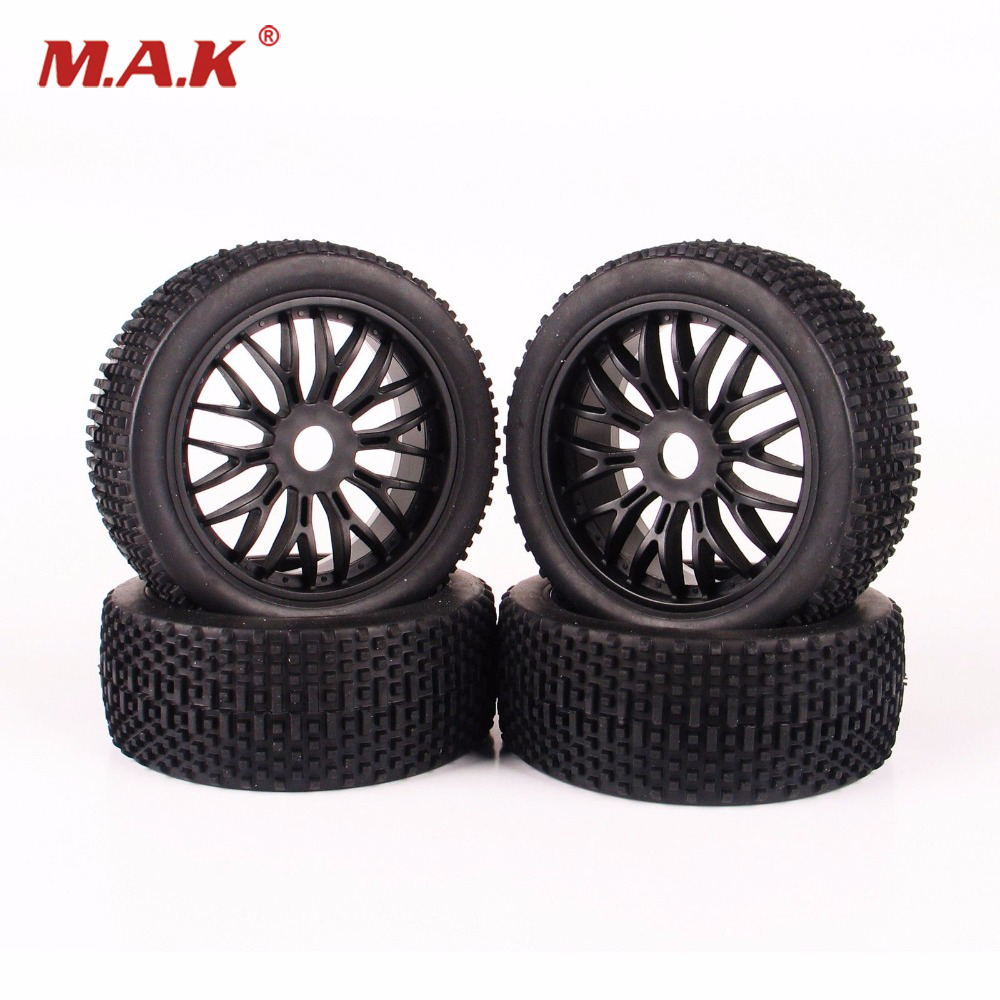 4 PCS/Set 1:8 RC Buggy Off-Road Tires Tyre Wheel Rim For HPI Traxxas Car Buggy Rubber Tires Model Car Accessories G plastic front rear wheel rim tire for rc car 1 10 buggy off road car hsp himoto hpi traxxas redcat 06008 06101 06024 06102