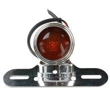 12 В Кафе Racer мотоцикл сигнал поворота, стоп-сигналы мотоцикл Красный тормозной задний светильник для Harley Chopper Bobber на заказ