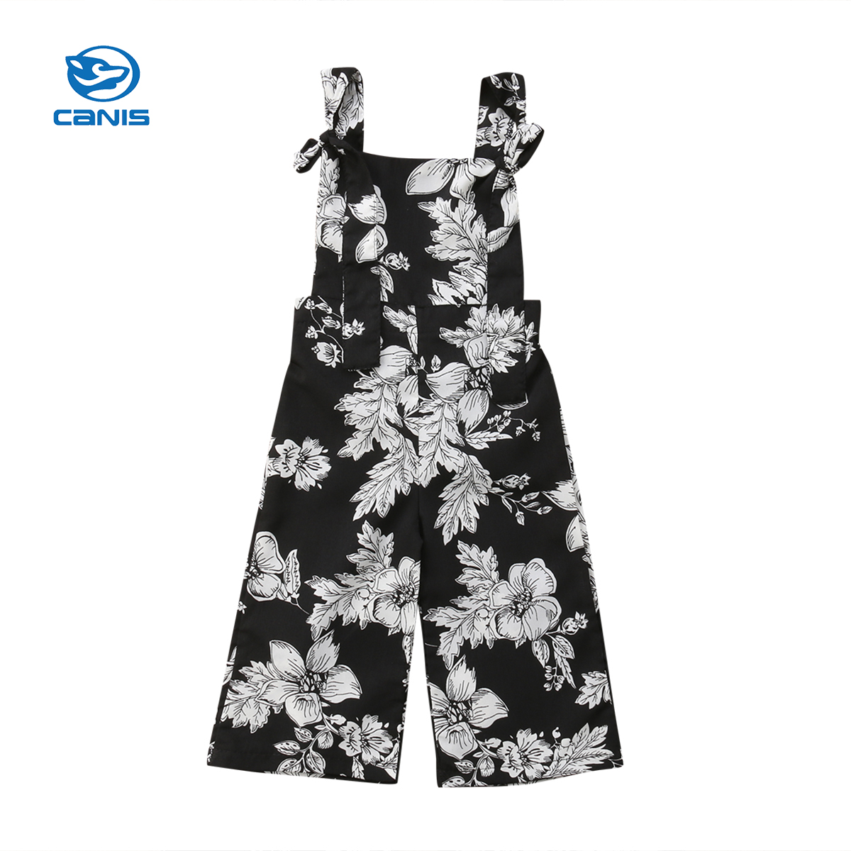 CANIS Kids Baby Girl Clothes Infant Newborn Kids Baby Girl Jumpsuit Cotton Romper Floral Kids Clothes Outfits 0-24M