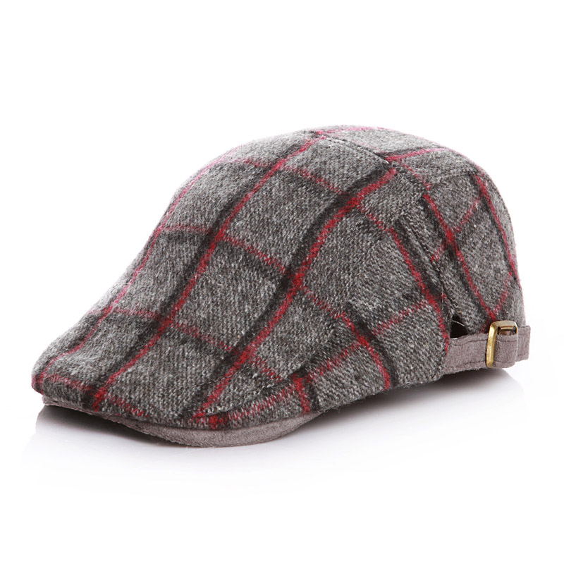6559ae19 Toddler Children Winter Autumn Plaid Woolen Beret Hats for Kids Baby Boys  Spring Cute Flat Cap 2 5Y-in Hats & Caps from Mother & Kids on  Aliexpress.com ...