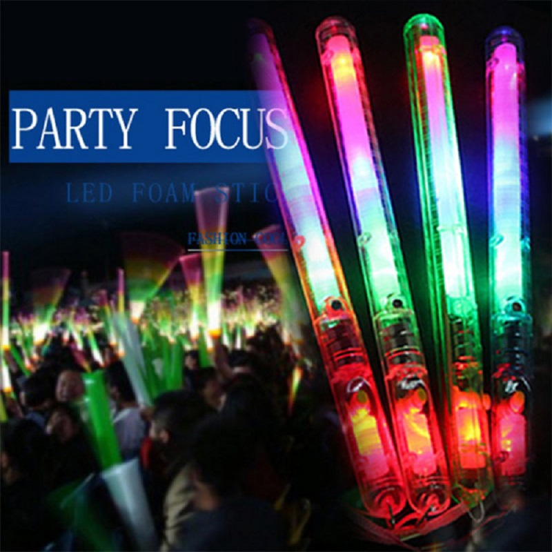 Hot Selling Multicolor Light-Up Blinking Rave Sticks LED Flashing Strobe Wands Concerts Party Glow 17 88