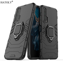 Huawei Honor 20 Pro Case Cover Finger Ring Phone Hard PC TPU Shell Armor For