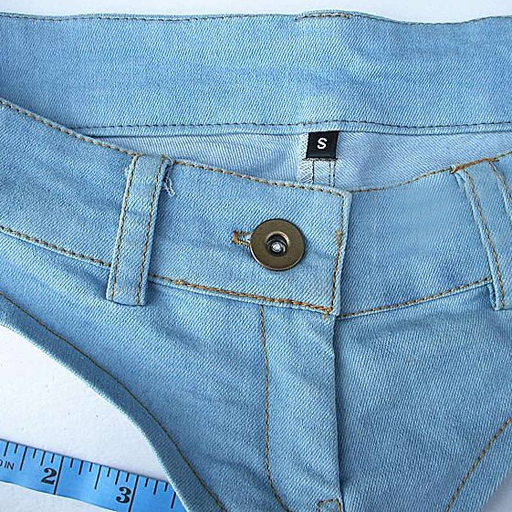 Mujer / Señora Summer Booty Denim Hot Jeans Shorts Vintage Micro - Ropa de mujer - foto 5