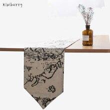 Table Runner Modern Cloth European Map Jacquard Bed Flag For Wedding Fashion Household Adornment Supplies