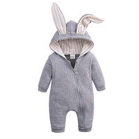 Newborn baby girls boys clothing romper big ears rabbit cotton long sleeve jumpsuit Outerwear playsuit Infant clothing casual