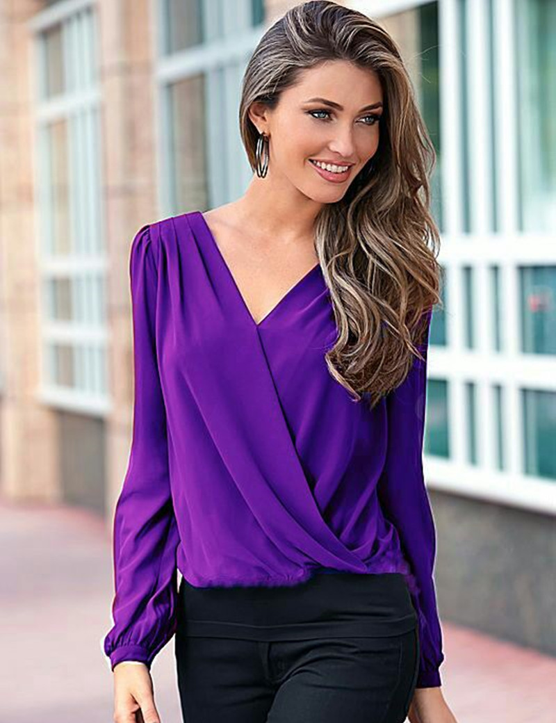 paarse blouse vrouwen