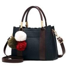 Women Handbag 2019 Bags For Luxury Handbags Ladies PU Leather Female Casual Crossbody Bag With Fur Ball