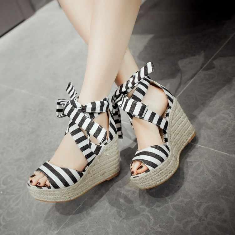 2017 ruée Sapato Feminino gladiateur sandales femmes mode grande taille 34-43 sandales dames dame chaussures à talons hauts femmes pompes A21