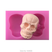 1Pcs  Skull Mask 3D Cake Decorator Tool Food Grade Silicone Mold Chocolate Silicone Mold Cookies Cookware Mold