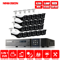 2019 HD 5MP 16CH H.265 Video Surveillance 16PCS Cameras Security Camera Set For CCTV Outdoor Surveillance Security Camera System