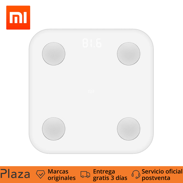Xiaomi Mi Body Composition Scale, Smart Body Fat Electronic Scale Mi fit APP Body Composition Monitor With LED Display,Square