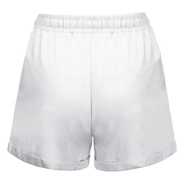 Plus Size Pocket Shorts women Summer 2019 Streetwear Casual Drawstring Running Gym Sports summer shorts Women short feminino 4