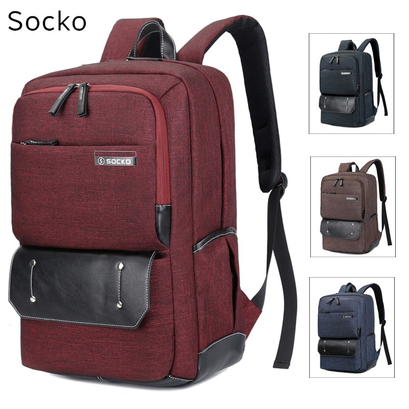 2018 New SOCKO Brand Backpack For Laptop 15,15.6 ,17 inch,17.3 Notebook Bag,Packsack,Travel,School Bag,Free Shipping 676 h3120zf 3 three phase dc to ac 120a 4 32vdc industrial grade solid state relay set ssr set not incluidng tax