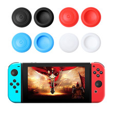 2Pcs Silicone Gel Thumb Stick Grip Caps Gamepad Analog Joystick Cover Case For Nintend Switch NS Controller Joy-Con ThumbStick(China)
