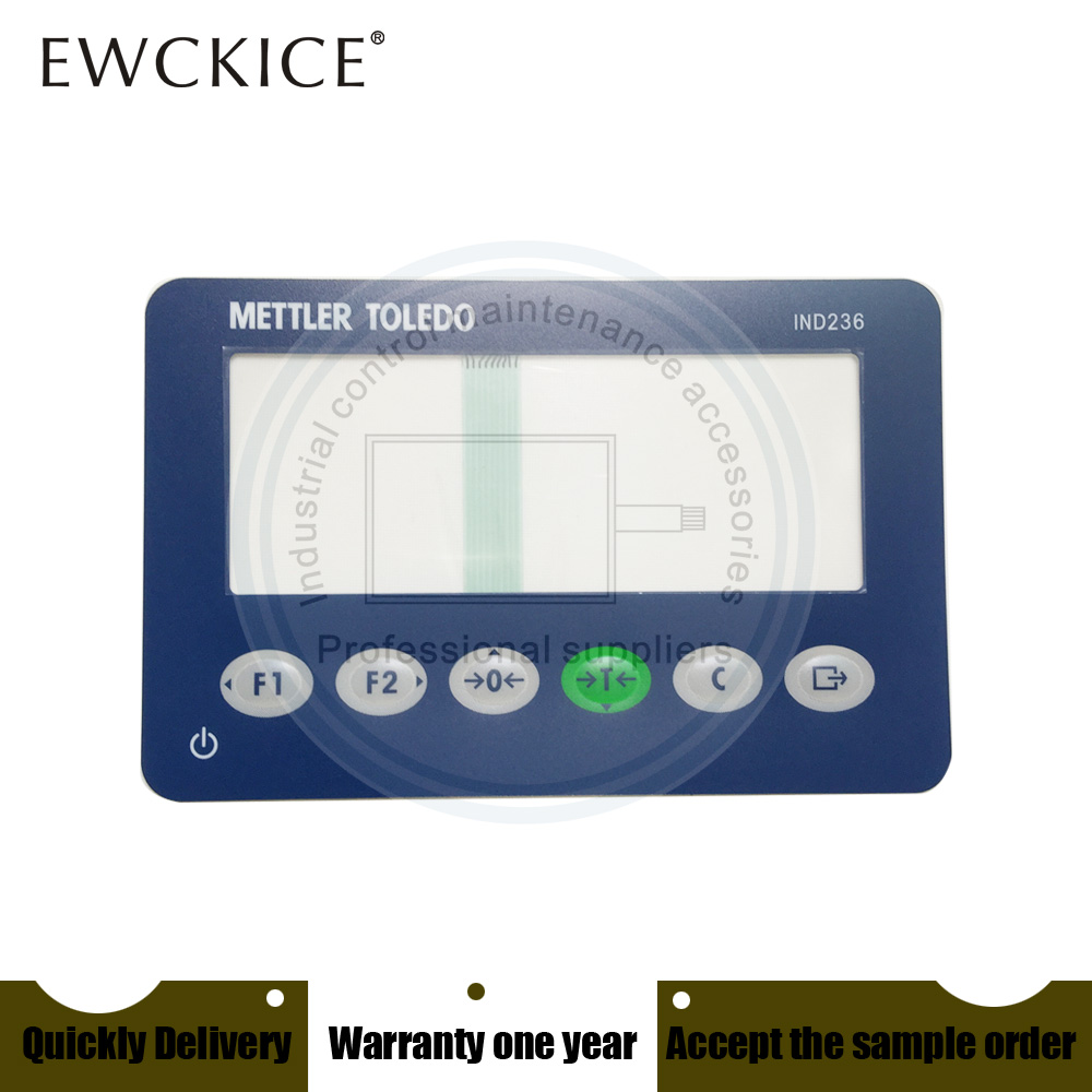 Купить с кэшбэком NEW METTLER TOLEDO IND236 IND 236 HMI PLC Membrane Switch keypad keyboard Industrial control maintenance accessories