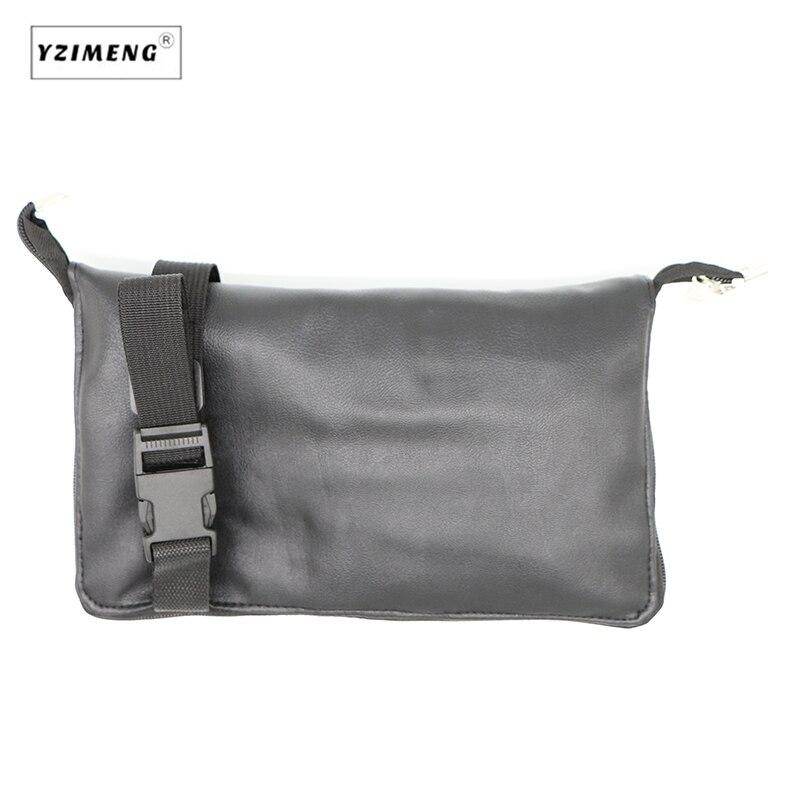 Pro 15 шт. набор кистей для макияжа Пудра основа для век консилер тушь для ресниц, кисть для губ инструмент черный/серебристый с сумкой - 6