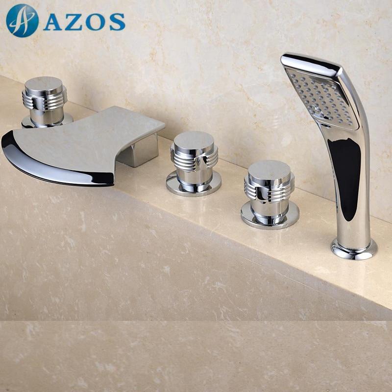 Aliexpress.com : Buy Bathtub Shower Faucets Chrome Polish Bathroom ...