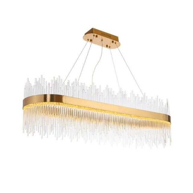 Luxury crystal chandelier oval shape gold shine glass rod living luxury crystal chandelier oval shape gold shine glass rod living room lamp hotel living room restaurant audiocablefo
