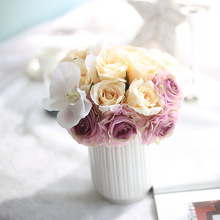 Silk Rose Bridal Wedding Bouquets Artificial Bride Bridesmaid Flowers For Decoration