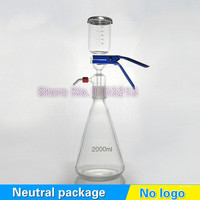 2000ml Solution filter bottle Vacuum filtration device Sand core Solvent suction filter unite with filter cup & receive bottle