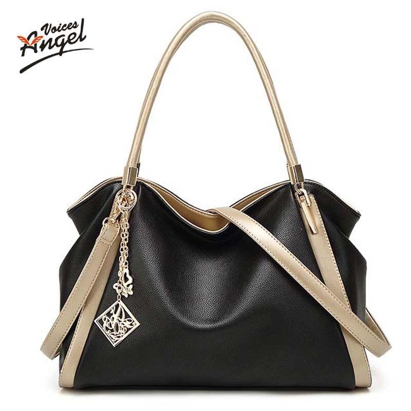 High Quality PU Leather Women Messenger Bag Big Shoulder Bag Large Capacity Tote