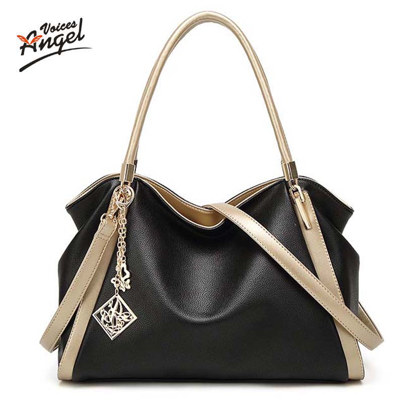 High Quality PU Leather font b Women b font Messenger font b Bag b font Big