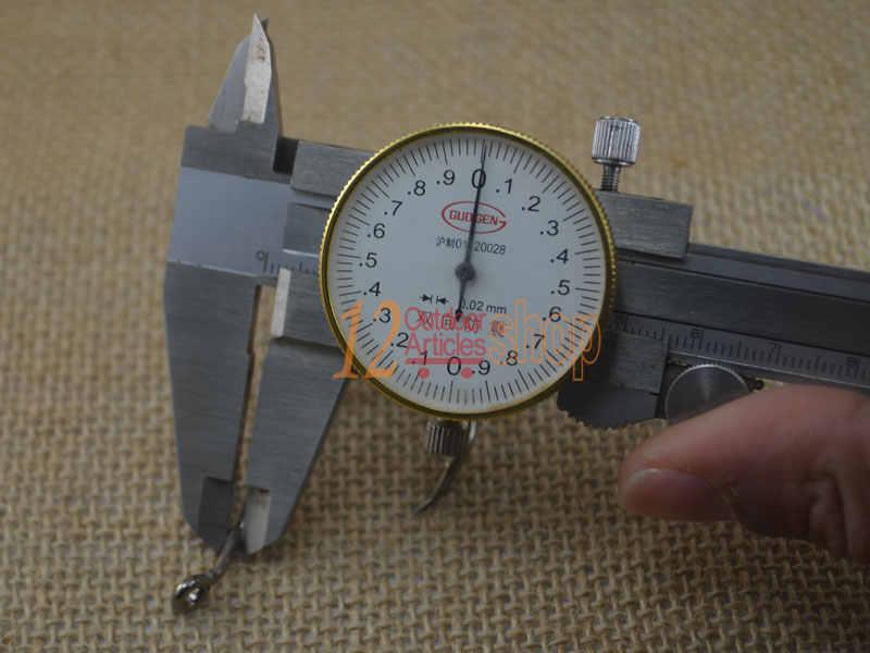 MNFT משלוח חינם 50 חתיכות גבוהה פחמן פלדה שארפ דוקרני שפמנון קרפיון דיג מלח מים ווי גודל 5.5*2.8 cm/2.16*1.1 סנטימטרים