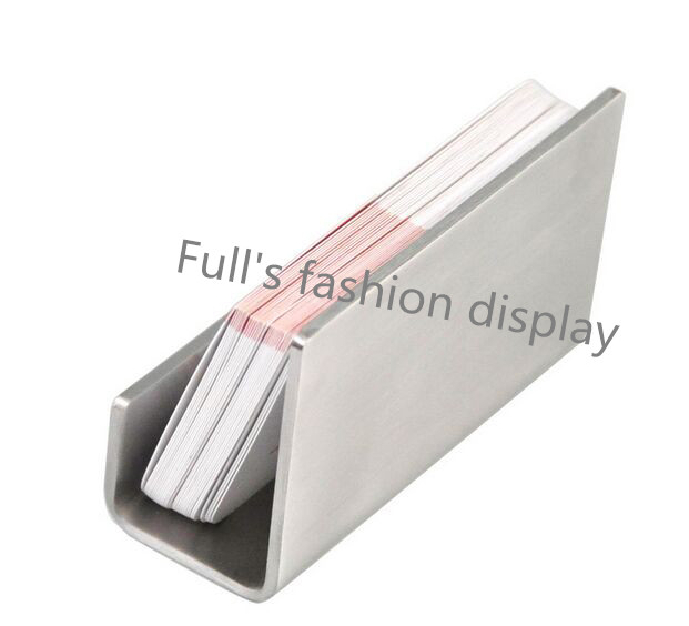 Free shipping high quality Stainless Steel Business Card Holder Name