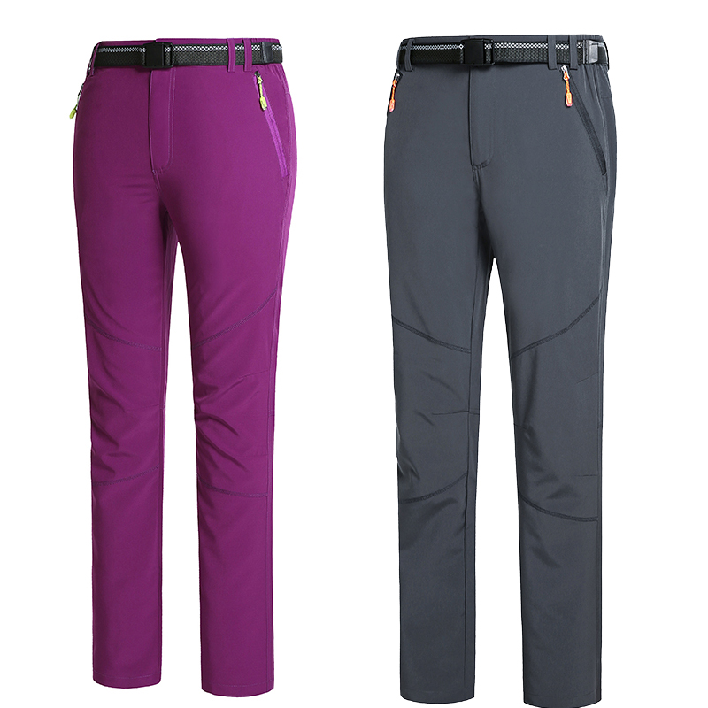 f4f324eba1b Men Women full Pants for men outdoors Trousers Quick Drying pant Capris  male fashion Solid With belt Pants Breathable UV M-8xl