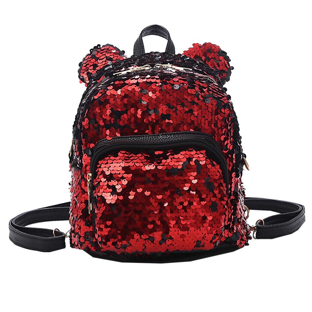 2019 Hot Lady  Backpack female School Backpack for girls teenagers Sequins Satchel Shoulder Bag Drop shipping#T32019 Hot Lady  Backpack female School Backpack for girls teenagers Sequins Satchel Shoulder Bag Drop shipping#T3