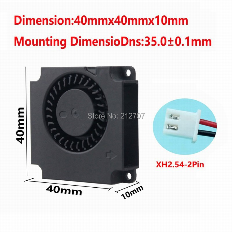 Купить с кэшбэком 5PCS Gdstime Turbo 12V Blower Cooling Cooler 4010 40x40x10mm Mini 3D Printer Fan 40mm