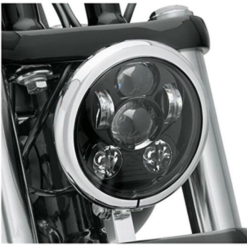 5.75 5 3/4 LED Motorcycle Headlight Daymaker Black For Harley Sportster XL 1200 883 48 Dyna