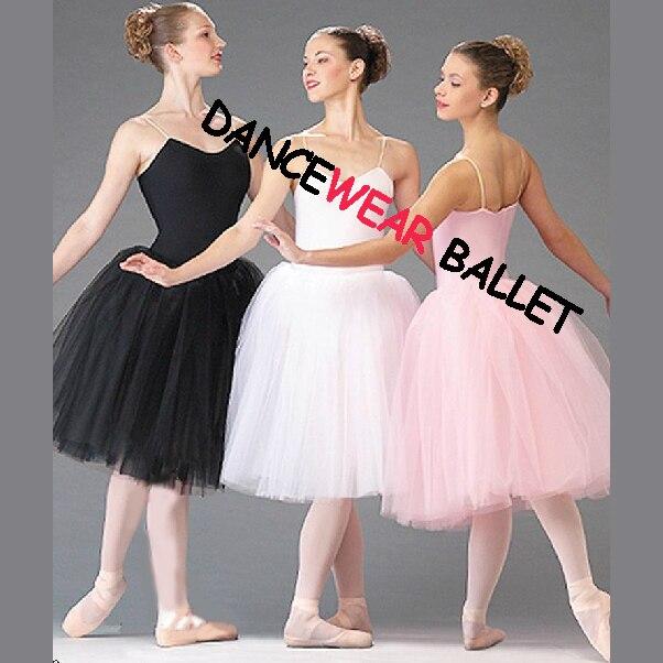 new-arrival-adult-women-kids-girls-size-140cm-175cm-pink-black-white-classic-font-b-ballet-b-font-tutu-skirt-dress