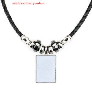 Image 1 - Colliers vierges en sublimation pour femmes, transfert à chaud, impressions personnalisées, bijoux personnalisés, consommables, 10 pièces/lot, nouveauté