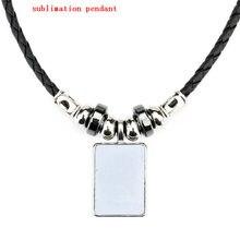 Nova chegada sublimação em branco colares pingentes para mulher impressão de transferência quente diy personalizado jóias consumíveis 10 peças/lote
