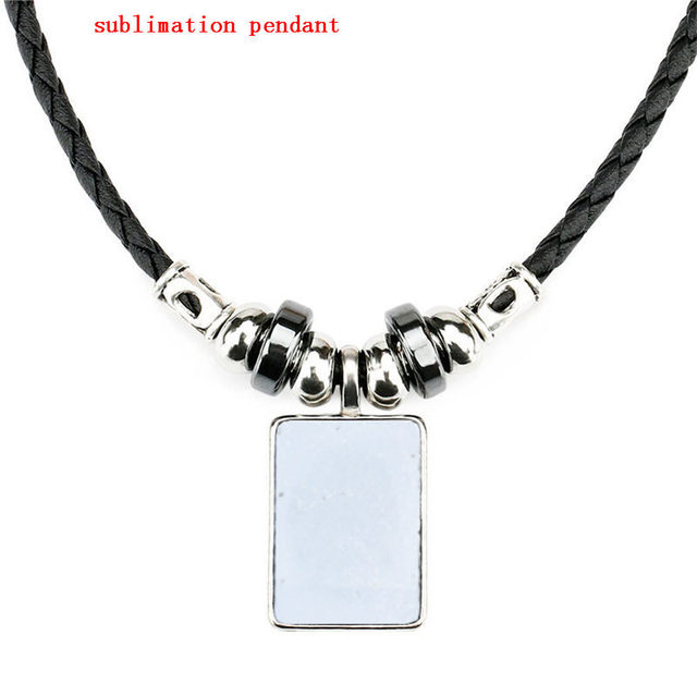 new arrival sublimation blank necklaces pendants for women hot transfer printing diy custom jewelry consumables 10pieces/lot