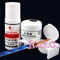 1 set Acrylic liquid  ACRYLIC POWDER Clear Color NAIL ART  False Tips Tools Set Buffer Block Nail Double Dappen dish Nail Kit