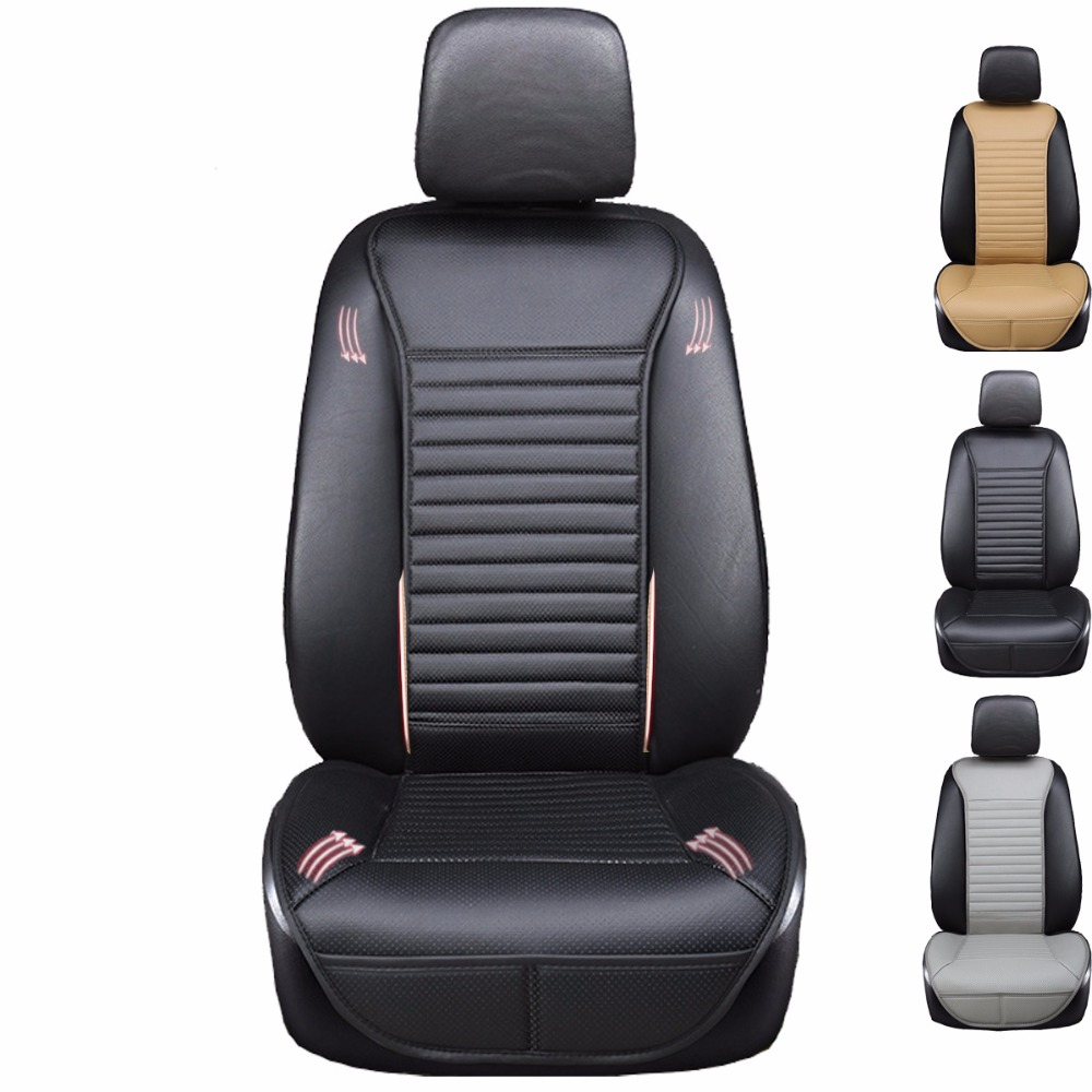 2018 brand new pu leather not moves car seat pad, auto non slide car seat cushion, universal car accessories single seat covers
