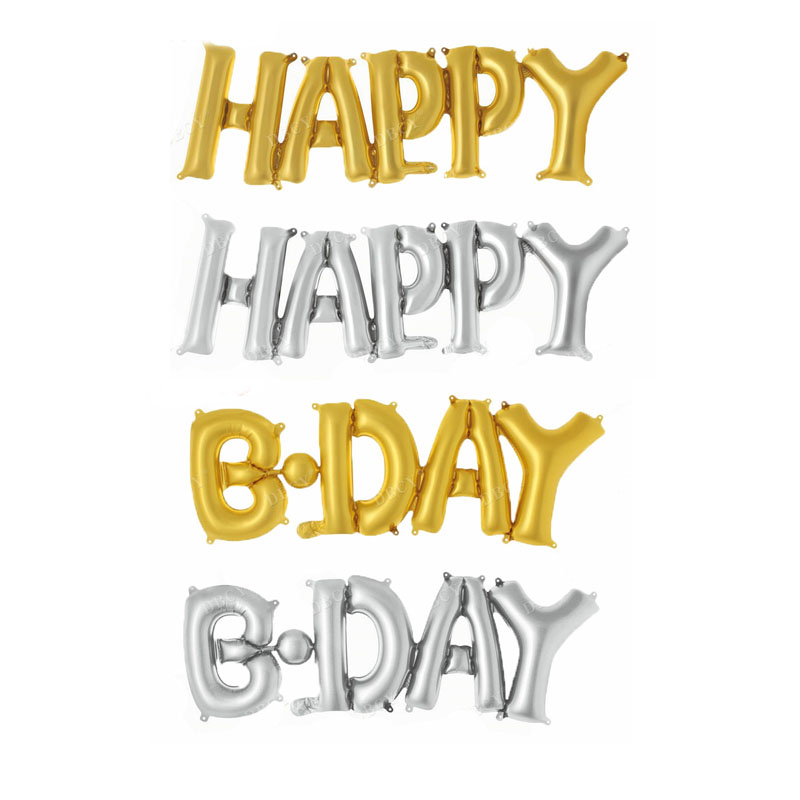 HAPPY & BDAY connection Letters foil balloons birthday party decorations kids party decoration balloons air Balloon baby shower