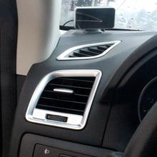 Авто-кондиционеры Vent Обложка отделкой в полоску интерьер панель розетки Рамки украшения Стикеры для Mazda CX-5 CX5 2015 2016